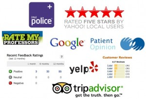 Logos of web-based review and rating schemes