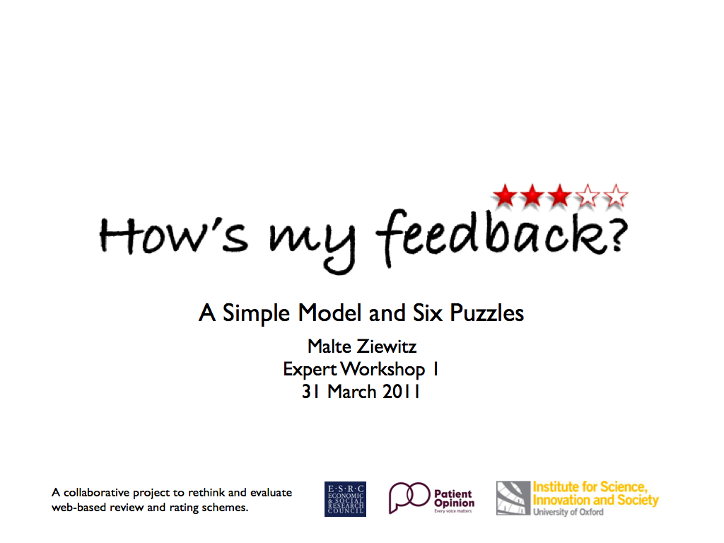Understanding feedback schemes: A simple model and six puzzles